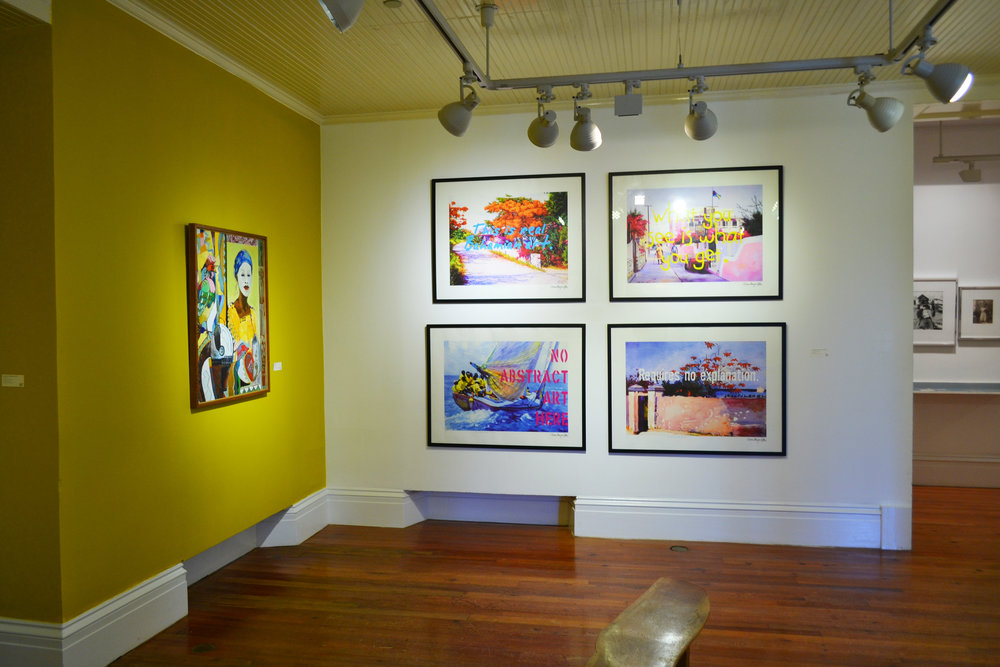 'Real Bahamian Art Series' (2006), Dionne Benjamin-Smith, digital print on paper, 24 x 36 (4). Installation shot as seen in the NAGB Permanent Exhibition 'Revisiting An Eye For the Tropics'. Part of the Dawn Davies Collection.