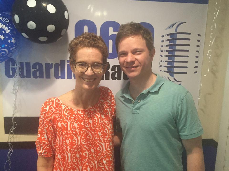Host Amanda Coulson with Trevor Schoonmaker
