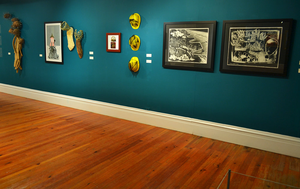 """Nassau From Above"" installed in the NAGB's permanent exhibition ""Revisiting An Eye For The Tropics"" on view through 2018."