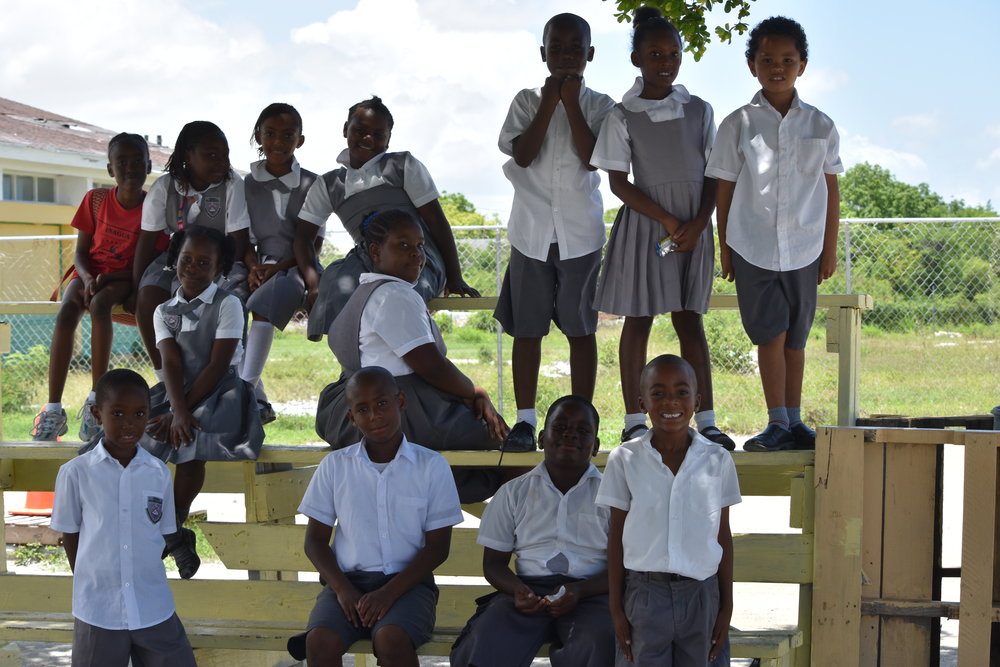 Bright eyed and bright spirited young people are the future of Inagua, stand on the compound of a school all but abandoned by our authorities.