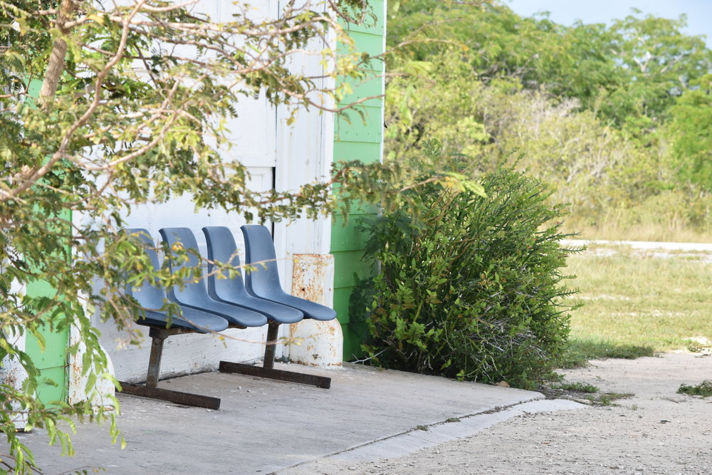 The Mayaguana 21st Century Airport. Unused chairs lay bare on the outside. All images courtesy of Dr. Ian Bethell-Bennett