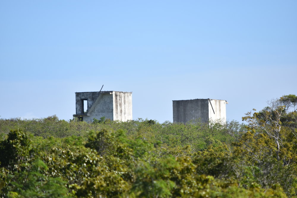 Remnants of old US NASA testing base in Mayaguana.