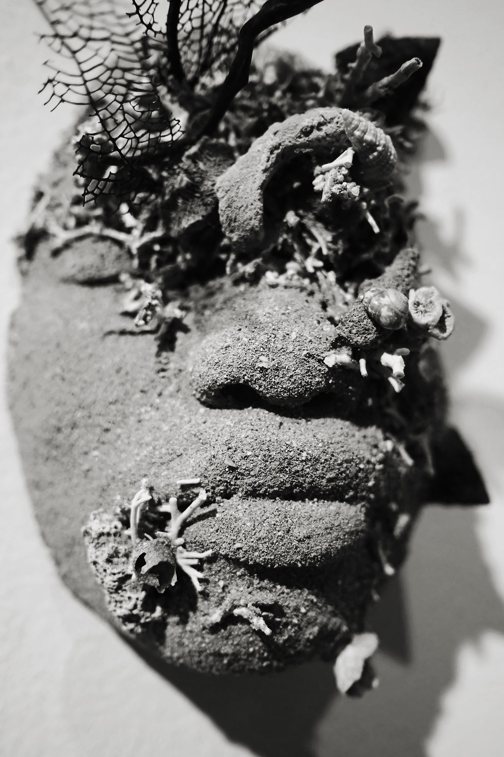 "Detail of Edrin Symonette's ""Island Life: The Ballad of Deangelo Johnson for Quakoo Street"" as a part of Double Dutch, ""Of Skin and Sand"" which opened on Friday, July 21st at the NAGB."