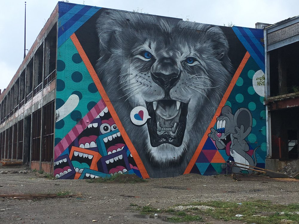 Additional street art in the Eastern Market District, Detroit. All images by Malika Pryor Martin
