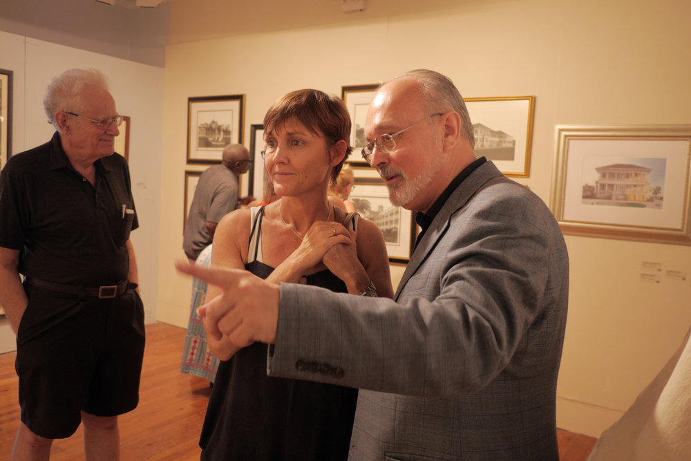 Kim Smith during the opening of his show Medium of the Masters, Master of the Medium at the NAGB