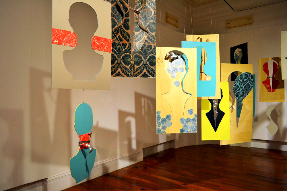 """Installation view of """"Tessellations (Pieces of You, Pieces of Me)"""" 2017 by Dede Brown as part of the current Double Dutch exhibition """"Re: Encounter"""" on at the NAGB."""