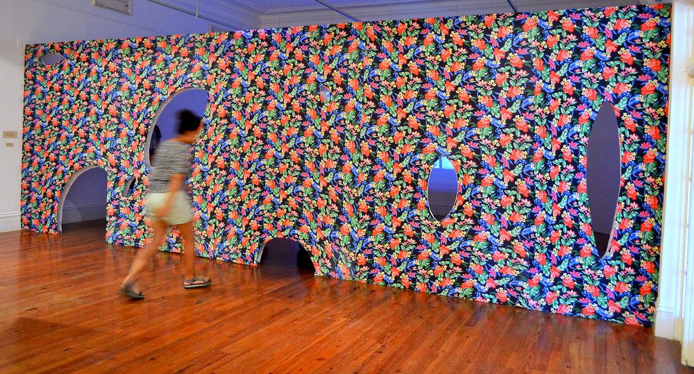 "Installation view of ""Invitation to Transgress"" (2017), an installation work by Joiri Minaya."