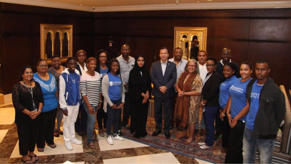Group shot of Bahamian contingency in Dubai for preparatory meeting for Expo 2020. All images courtesy Dr Ian Bethel Bennett.