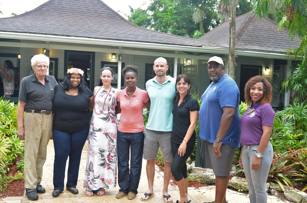 1.     Group shot of Wine and Art 2017 winners. L-R: Robin Hardy, June Collie, Holly Bynoe, Candis Marshall, Jonathan Bethel, Maydi Williams, BNT's Eric Carey and Dominique Martin. All images courtesy of Elijah Sands