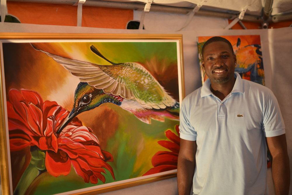 1.     Marco Mullings in his booth at the 27th Annual BNT Wine and Art Festival.