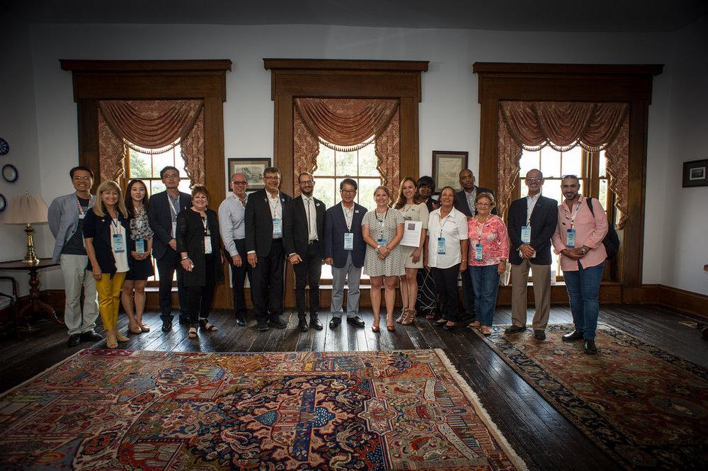 Creative City delegates in Paducah with Mayor Brandi (centre).jpg