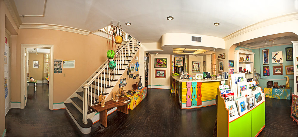Panoramic view of Doongalik Studios' gift shop. All images courtesy of Pam Burnside