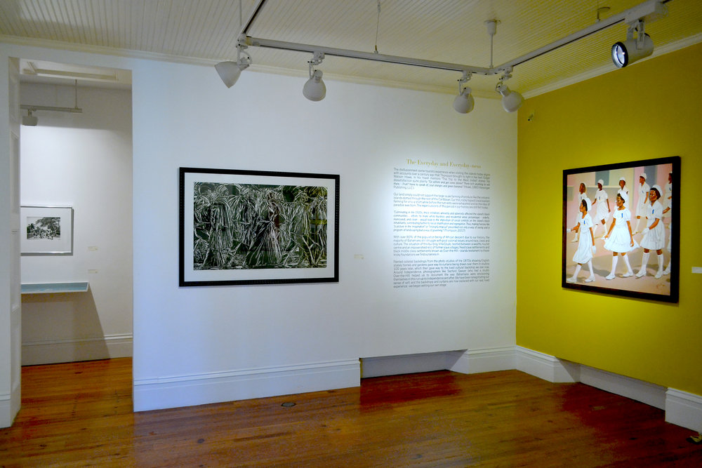 "Installation view of ""The Immigrants No.3"" (c1990) by Maxwell Taylor, part of the National Collection as seen in the current Permanent Exhibition, ""Revisiting An Eye For The Tropics""."