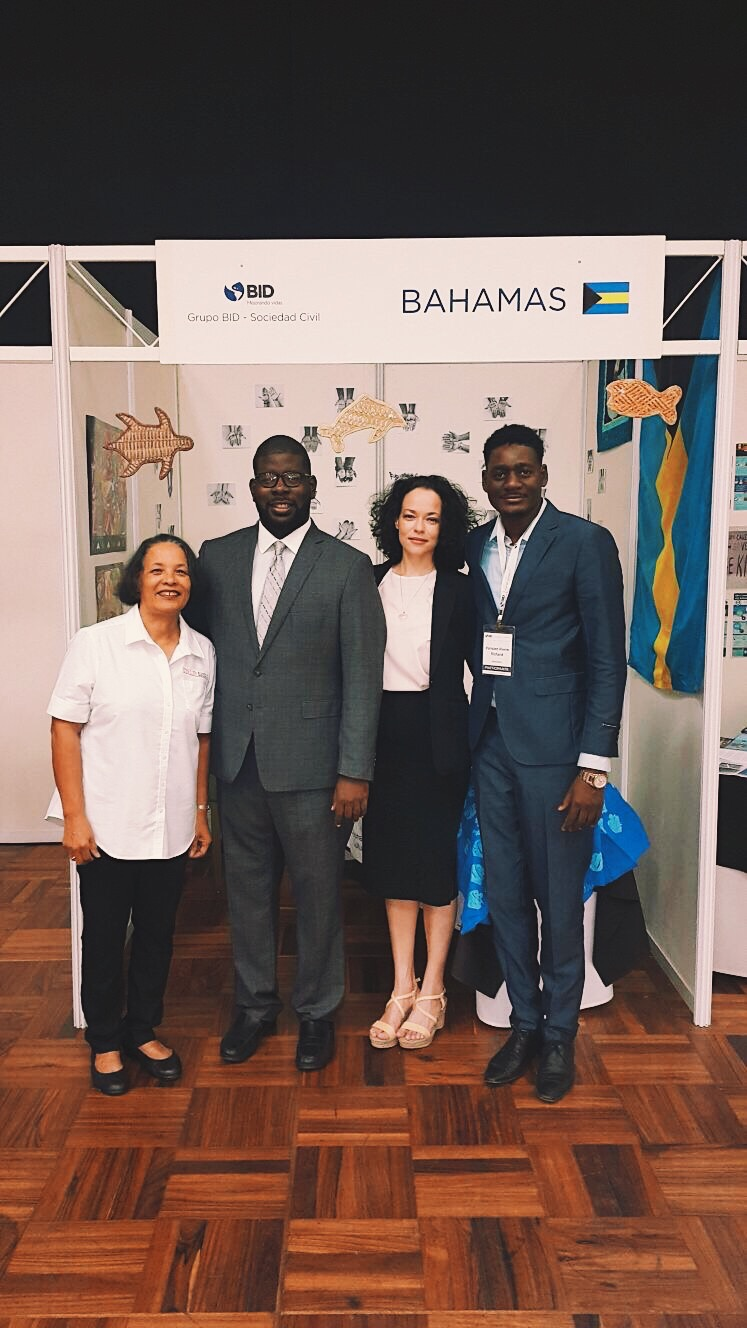 Bahamian Cohort at the XVII annual civil society meeting in Santa Cruz, Bolivia. L-R: Pam Burnside, Gevon Moss, Holly Bynoe and Pierre Richard Parisien. All images courtesy of Holly Bynoe.