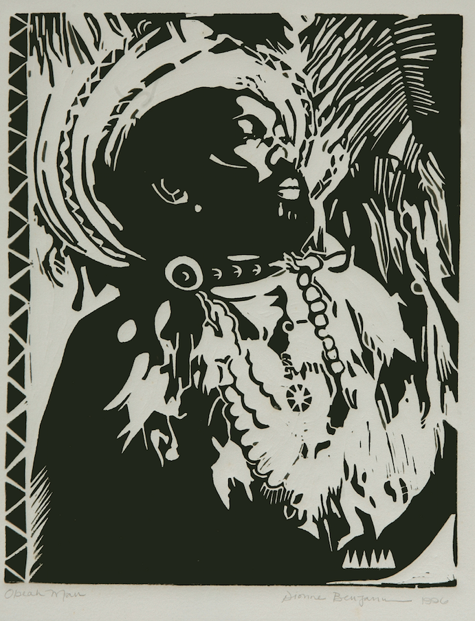 """Dionne Benjamin-Smith. """"Obeah Man."""" Several of Benjamin-Smith's works will be featured in the upcoming exhibition """"Medium: Practices and Routes of Spirituality and Mysticism"""" on view at the NAGB from December 14th. Image courtesy of the Dawn Davies Collection."""