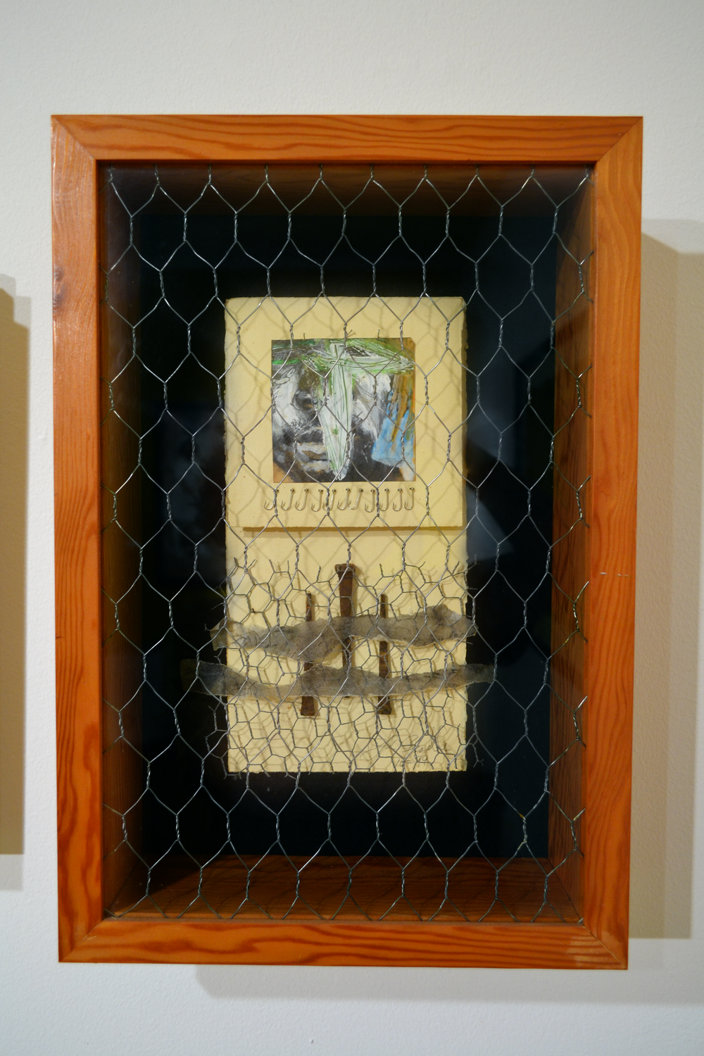 "John Beadle. ""Emanon/not known (New Obeah Series)"" (1999), mixed media, 18"" x 12"". Part of the Dawn Davies Collection."