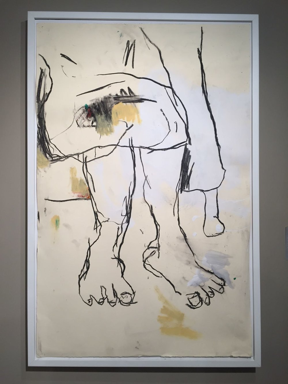 "Heino Schmid. ""Ma II"", acrylic, charcoal and oil pastel on paper. 2018.  All images courtesy of the D'Aguilar Art Foundation."