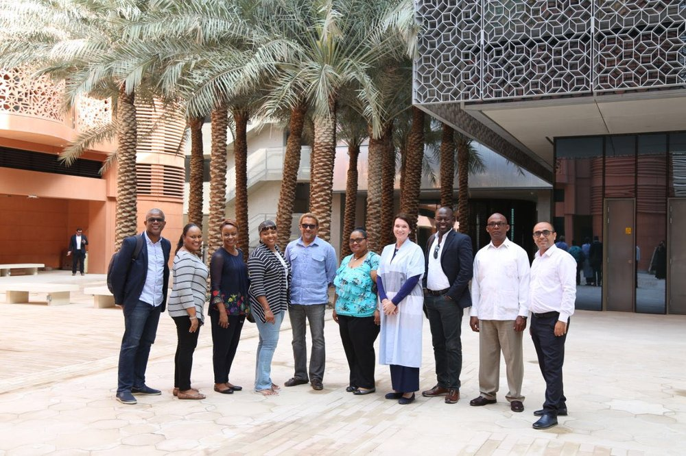 Team Bahamas Expo 2020 at Masdar City, Abu Dhabi, UAE. Images by Dr Ian Bethell-Bennett