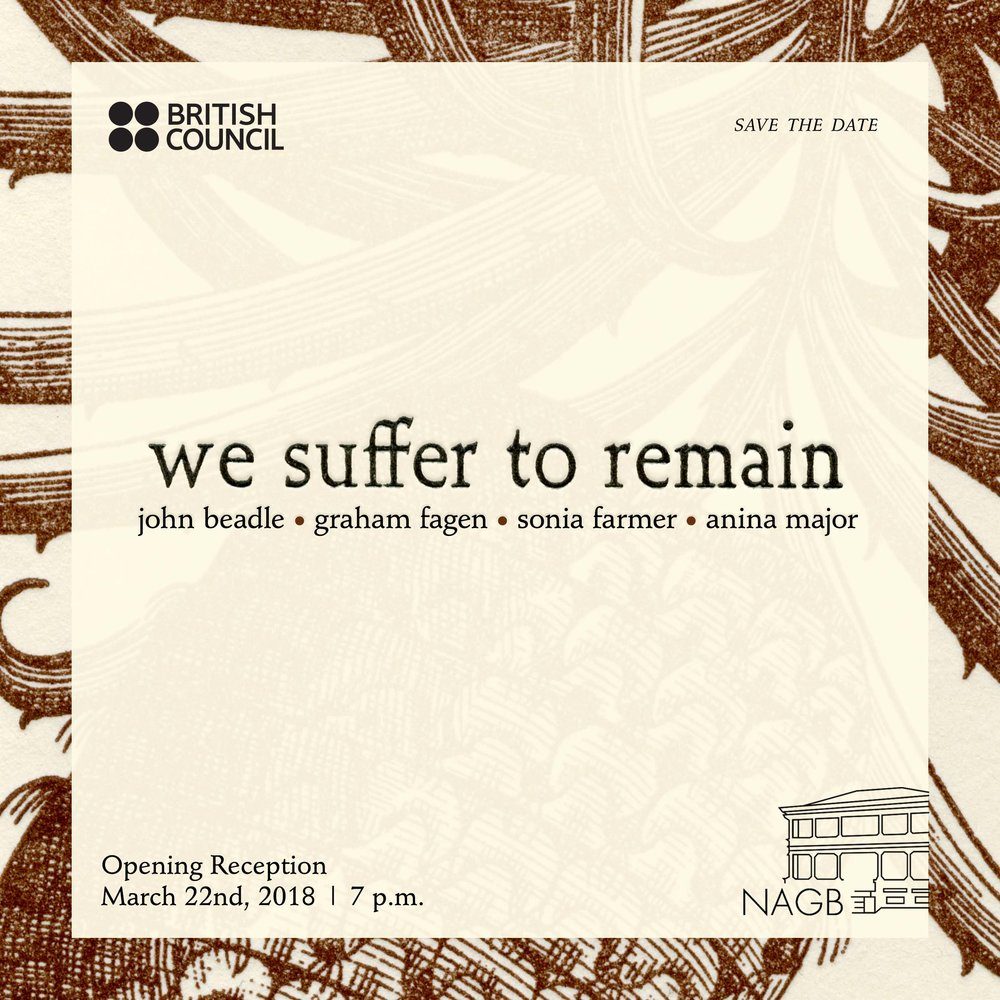 """We Suffer to Remain"" promotional graphic. All images courtesy the NAGB."