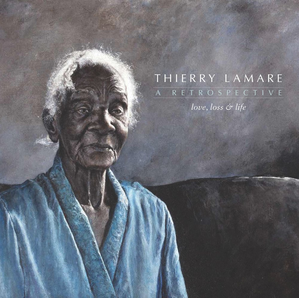 "Cover for Thierry Lamare's retrospective catalogue ""Love, Loss and Life"" which was on view at the NAGB March through November 2017, on sale at the NAGB for $50 inclusive of VAT."