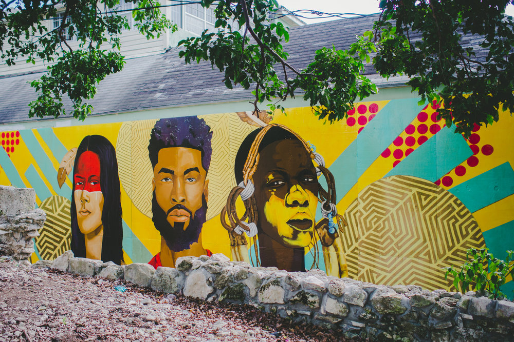 "1.     ""Legacy"" (2018) public mural by Darchell Henderson on Hospital Lane in Nassau, New Providence."