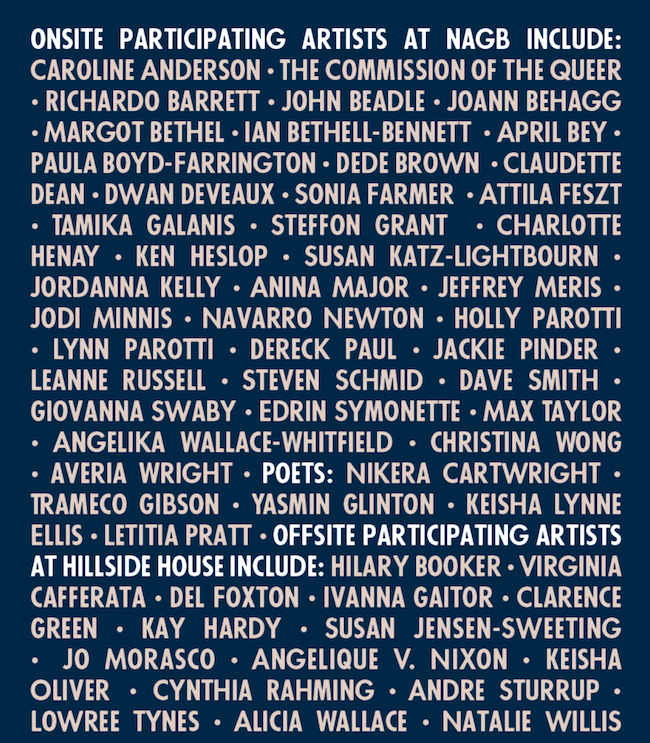 NE8 participating artists.