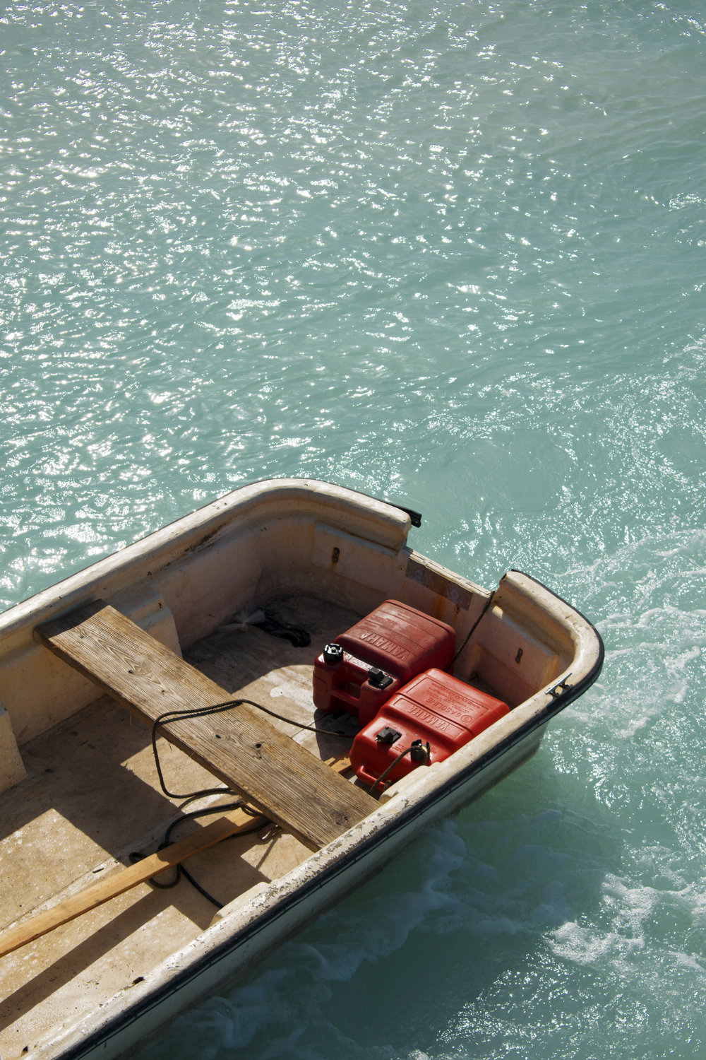A dinghy viewed from above. Photo by Ethan Knowles.