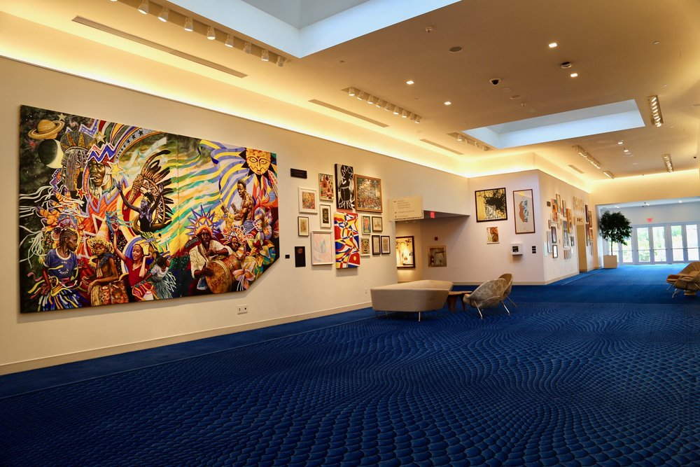 "Celebration: Spirit of Junkanoo on view at the Baha Mar convention centre in the exhibition ""Fair Wind"""