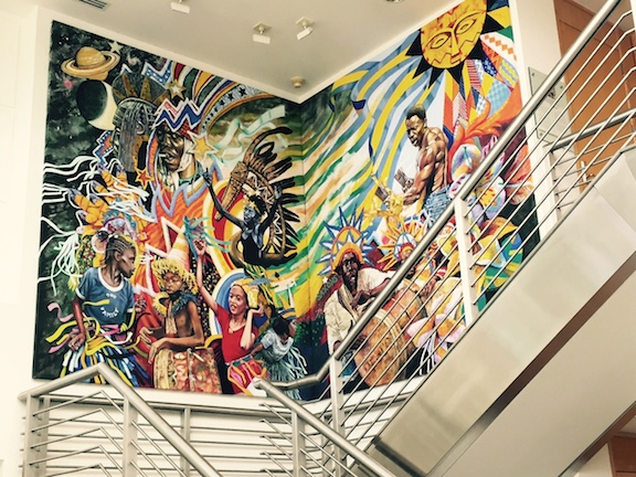 Celebration: Spirit of Junkanoo, (1996), installed at UBS in New Providence.