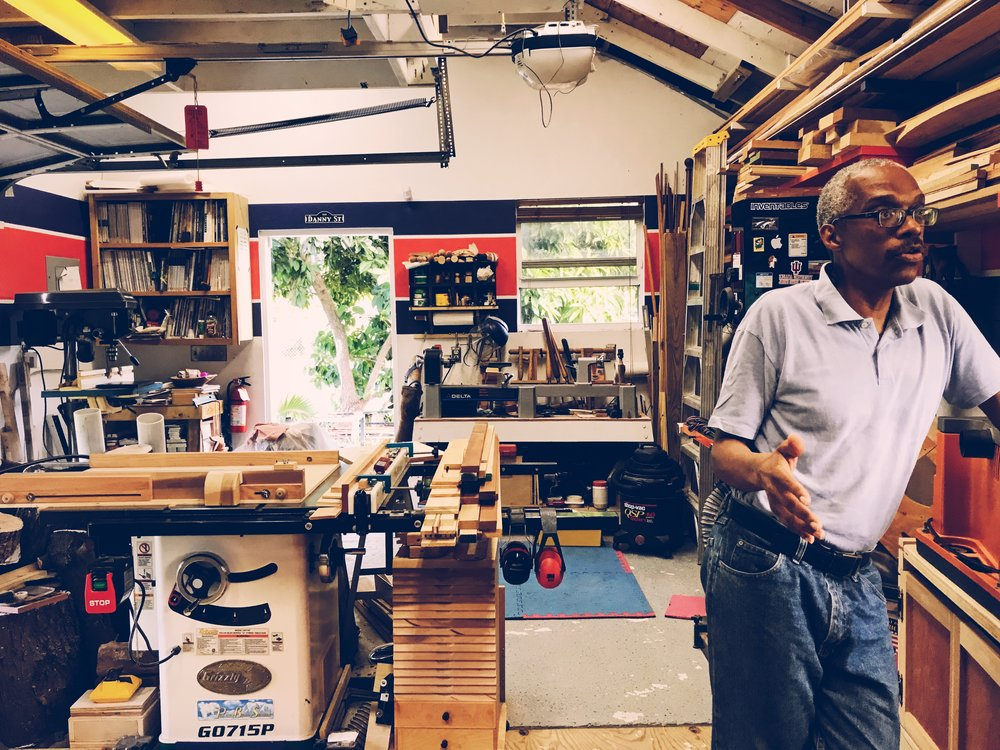 Danny Davis, Artist-in-Residence at The Current for the NE9 in his studio. Image by Holly Bynoe