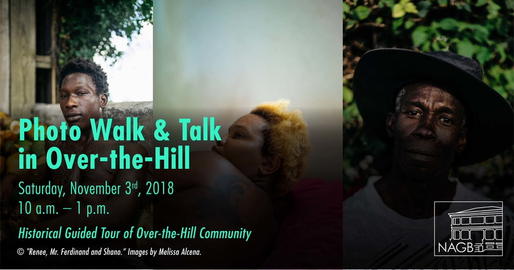 Promotion for Photo Walk and Tour in the Over-the-Hill Communities on Nov 3rd. Images by Melissa Alcena