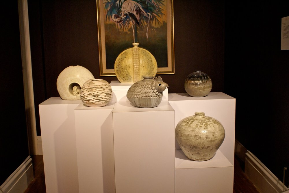 """Image of Knight's work on view at the R. Brent Malone retrospective """"Reincarnation"""" on view at the NAGB in 2015."""