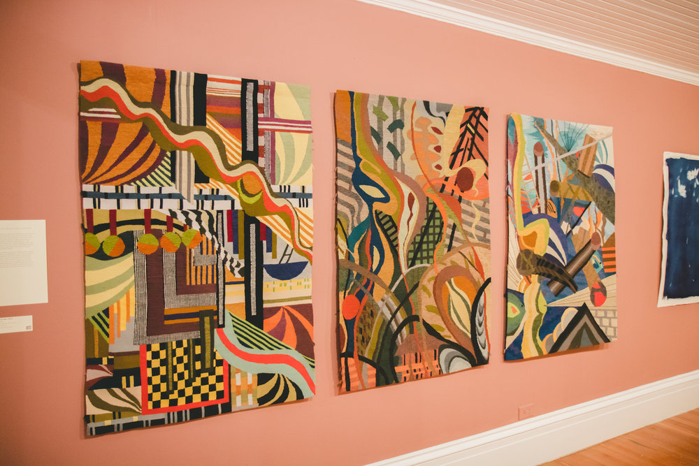 Grand Bahama-based artist, Jo Morasco's textile works dealing with environmental concerns.