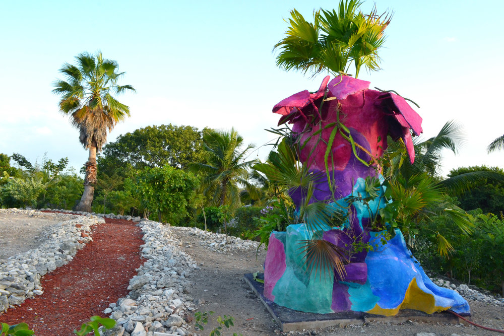 """""""Sculpture For Plants"""" (2018), Alex Timchula, mixed media with living plants, dimensions variable. Part of the 9th National Exhibition """"NE9: The Fruit and the Seed"""" currently on view at the National Art Gallery of The Bahamas."""