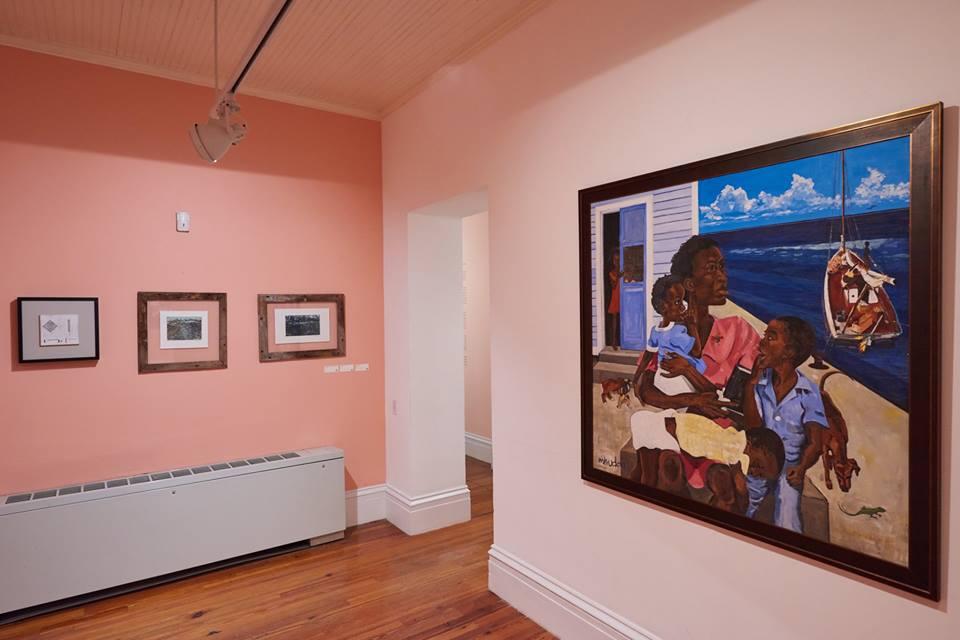 Mhudda , (1978), Jackson Burnside III, acrylic on canvas, 48 x 48. Part of the D'Aguilar Art Foundation Collection.