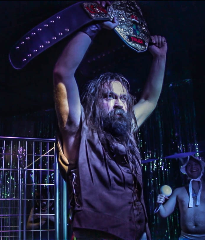 LCAW World Heavyweight Champion GRRUNT - Arm-Wrestle Mania - March 14, 2016 -   Photographer: Joe Underbakke