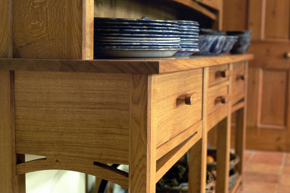 Clifford Dresser Detail, Solid English Oak