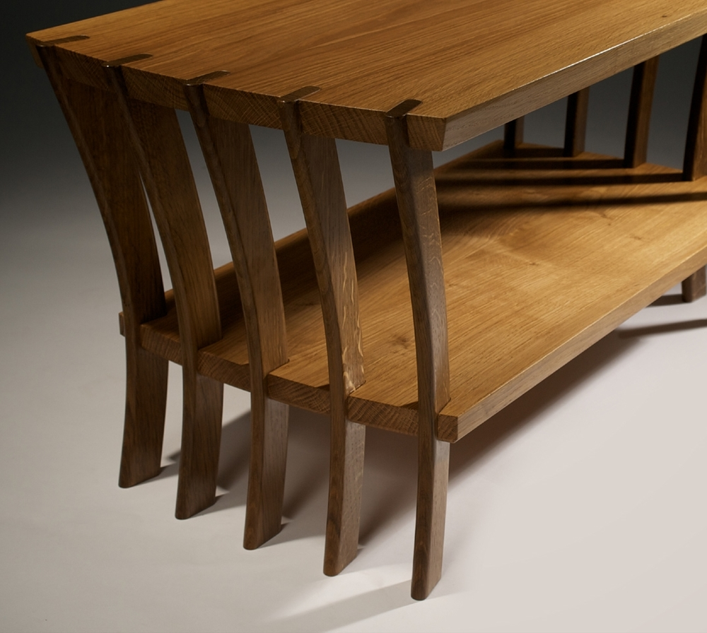 Rara Avis Coffee Table, Solid English Herefordshire Oak & Fumed Oak
