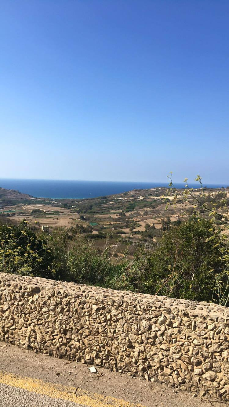Ramla View from Nadur on the saddle
