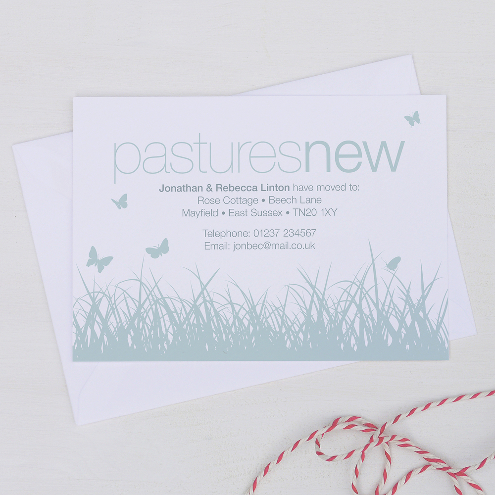 PERSONALISED NEW ADDRESS CARDS
