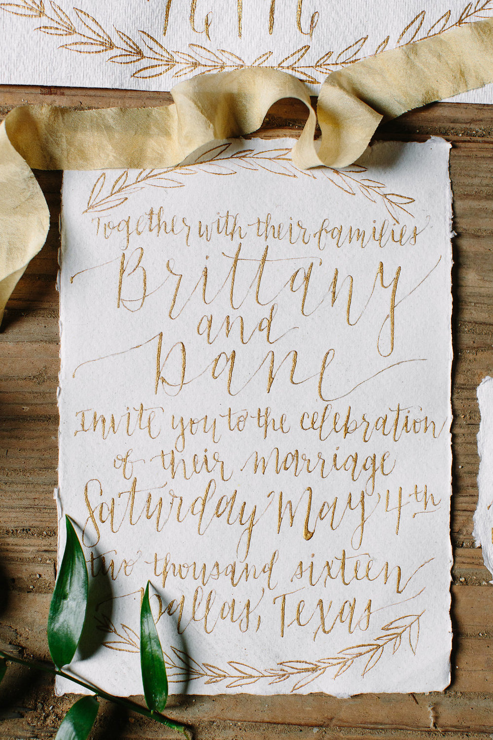 Custom Calligraphy Wedding Suite