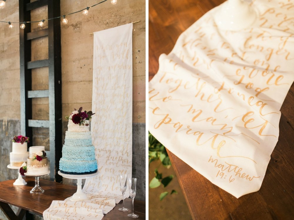 Scripture Backdrop Cake Table Display Dallas Fort Worth Bridesmaids Calligraphy Wedding Calligraphy Wedding Invitation Wedding Invitation Suite Texas Wedding Fine Art Wedding Fine Art Photography Dallas Wedding Photographer Dallas Calligraphy Texas Calligraphy Wedding Signs Wedding Escort Cards Texas Wedding Calligraphy Charla Storey Real Texas Weddings Grit and Gold Weddings
