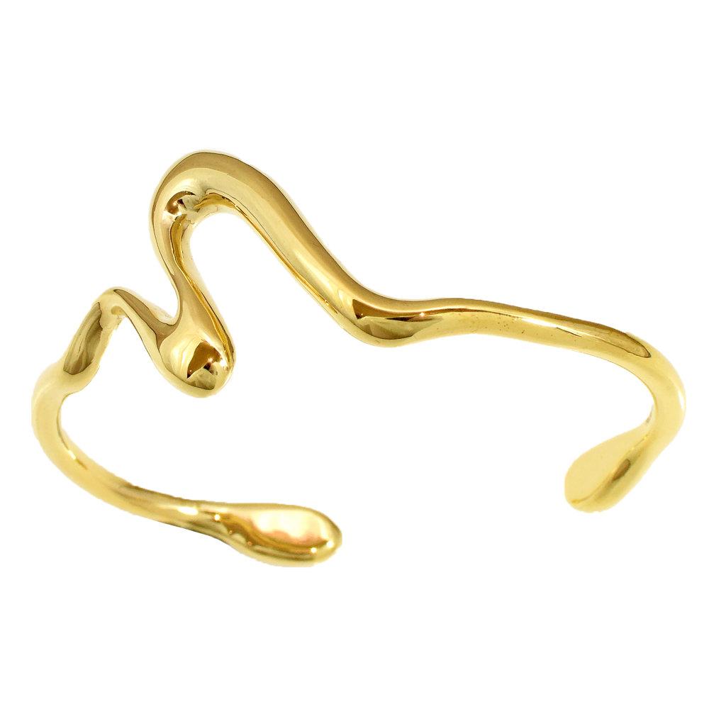 Felice Dahl  Första Cuff Bracelet  in Gold Vermeil