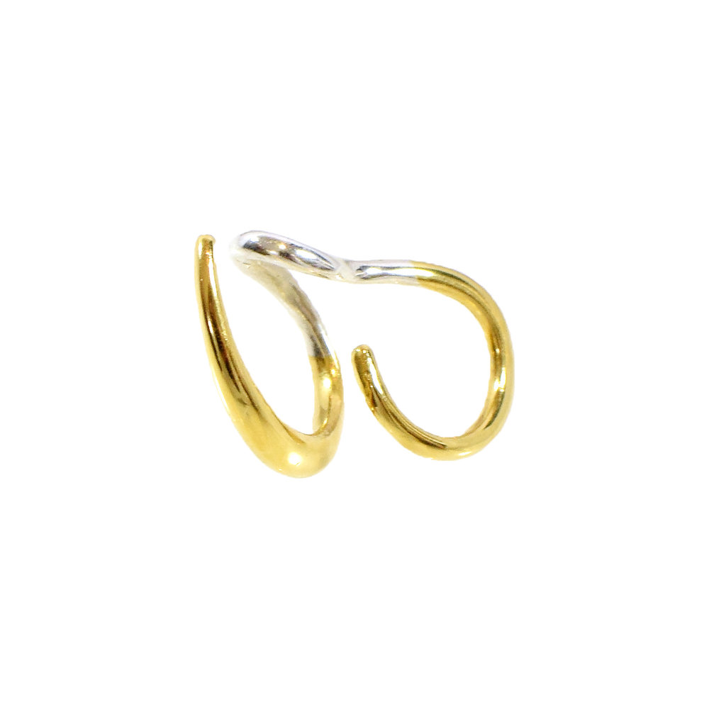 Felice Dahl  Ljus Double Ear Cuff  in Sterling Silver and Gold Vermeil