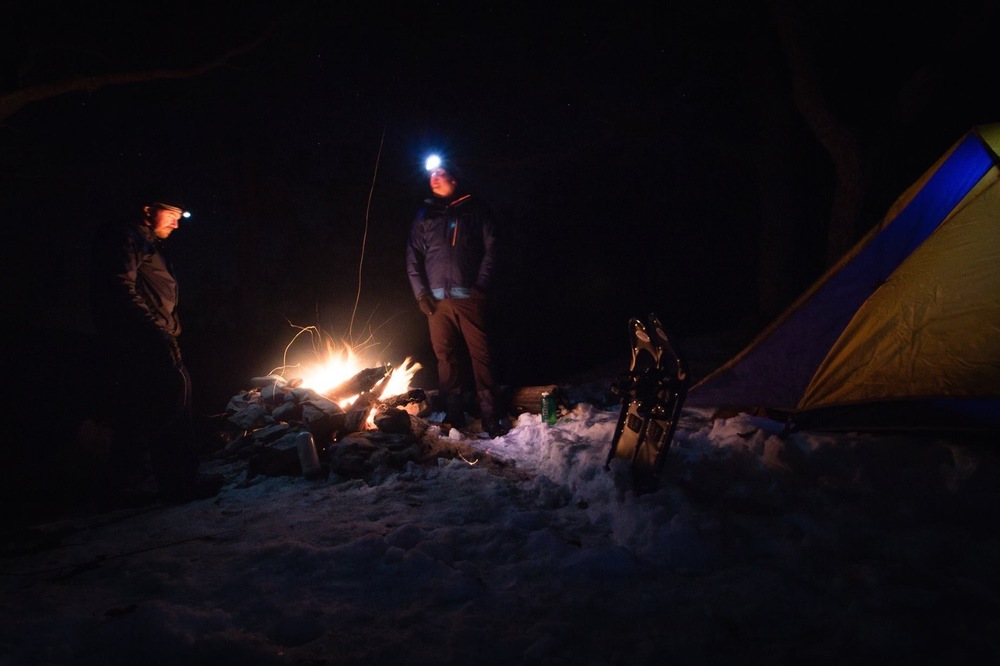 Winter camping in Virginia's Blue Ridge Mountains. (Photo by Thomas Cluderay)