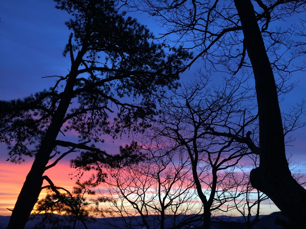 Winter sunrise near Signal Knob, George Washington National Forest, Virginia. (Photo by AE)