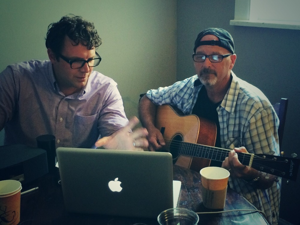 Writing a country music song with the very talented Billy Montana. (Photo by Andrew Evans)