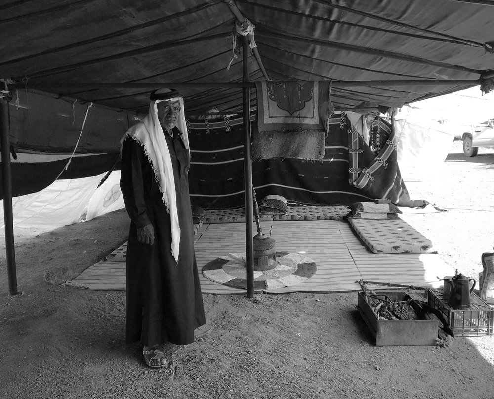 Abu Khalil in his tent (Photo by Andrew Evans)