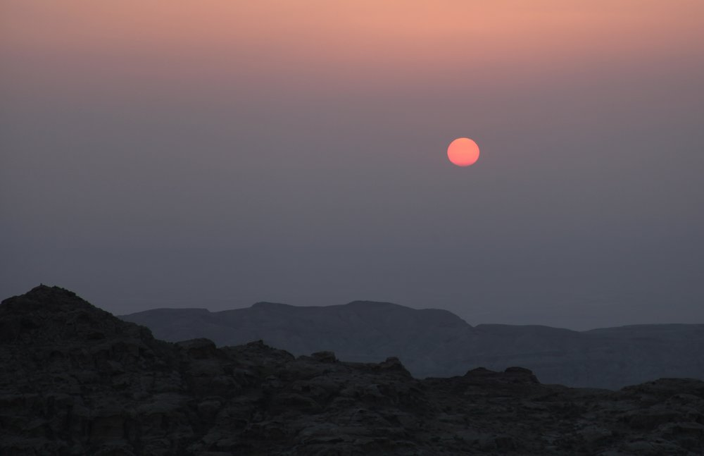 Sunset in the Dana Biosphere Reserve, Jordan (Photo by Andrew Evans)