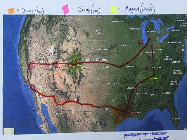 Alright, here it is: the very TENTATIVE route for the summer. Of course it is up to change depending on different variables. The general outline we have now is to spend the month of June in Texas (Houston), July in California (Los Angeles), and August in Colorado (Denver). We have only a few planned stops at churches, camps, and organizations. But other than that we will be looking for opportunities to serve along the way! If you know of people or places we can serve at or share the Gospel of Jesus Christ with, let us know! We are ready to be sent out 💪🏼